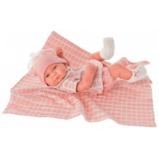 Munecas Antonio Juan Кукла-младенец Дафна в розовом 42 см