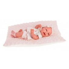 Munecas Antonio Juan Кукла-младенец Глория на розовой подушке 33 см