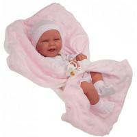 Munecas Antonio Juan Кукла-младенец Ирен в розовом 42 см