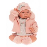 Munecas Antonio Juan Кукла Наталия в розовом 40 см