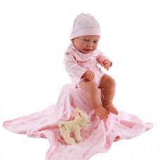 Munecas Antonio Juan Кукла Реборн младенец Фуенсанта в розовом 40 см