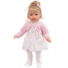 Munecas Antonio Juan Кукла Зои в розовом 55 см