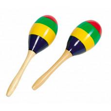 Музыкальный инструмент Goki Маракасы Яркие полоски