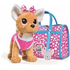 Мягкая игрушка Chi-Chi Love собачка Звездный стиль с сумочкой 20 см