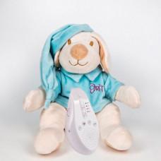 Мягкая игрушка Drema BabyDou для сна Собачка с белым и розовым шумом