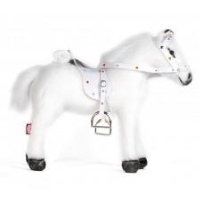 Мягкая игрушка Gotz Белая лошадь с седлом и уздечкой со звуком