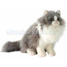 Мягкая игрушка Hansa Персидский кот Табби серый с белым 38 см
