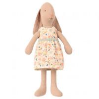 Мягкая игрушка Maileg Заяц в платье в цветочек 22 см