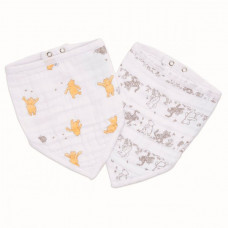 Нагрудник Aden&Anais Winnie+friends bandana bib Essentials 2 шт.