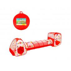 Наша Игрушка Палатка игровая Горошек с туннелем 355х90х90 см