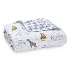 Одеяло Aden&Anais из муслинового хлопка Jungle 120х120 см