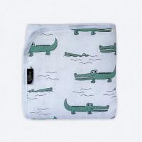 Одеяло Mjolk Муслиновое утеплённое Крокодилы 75х100