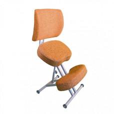 Олимп Коленный стул со спинкой и повышенной мягкостью СК2-2 (серый корпус)