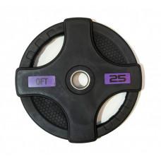 Original FitTools Диск олимпийский обрезиненный с двумя хватами 25 кг