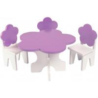Paremo Набор мебели для кукол Цветок (стол + стулья)