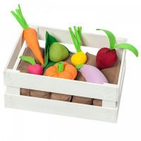 Paremo Набор овощей в ящике с карточками (12 предметов)
