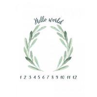 Пеленка Firstday муслин Hello World Metrics 120х120 см