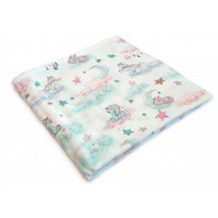 Пеленка MamSis Розовые единороги 120х120 см