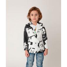Пиджак черно-белый с принтом Gulliver 121GPBMC4801