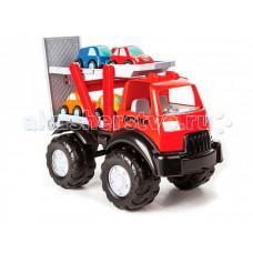 Pilsan Грузовик-автовоз Power Truck с 4-мя машинками