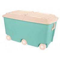 Пластишка Ящик для игрушек на колесах 66.5 л 68,5*39,5*38,5 мм