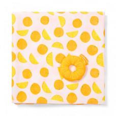 Плед BabyOno Набор с погремушкой Апельсин