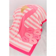 Плед Bizzi Growin Одеяло Flamingo с аппликацией 90х70 см