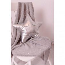 Плед Bizzi Growin Одеяло Silver Sparkle 100х75 см