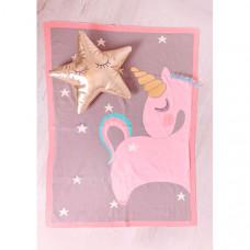 Плед Bizzi Growin Одеяло Unicorn вязанное 90х70 см