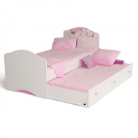 Подростковая кровать ABC-King Фея с рисунком без страз без ящика 160x90 см