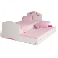 Подростковая кровать ABC-King Фея с рисунком и стразами Сваровски без ящика 160x90 см