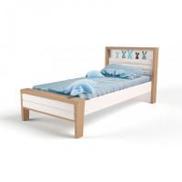 Подростковая кровать ABC-King Mix Bunny №2 с мягким изножьем 160x90 см