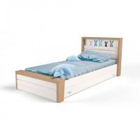 Подростковая кровать ABC-King Mix Bunny №4 с мягким изножьем 160x90 см