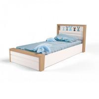 Подростковая кровать ABC-King Mix Bunny №6 c подъёмным механизмом и мягким изножьем 160x90 см