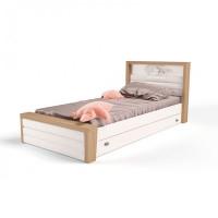 Подростковая кровать ABC-King Mix Ocean №4 с мягким изножьем 160x90 см