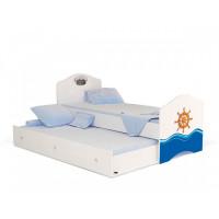Подростковая кровать ABC-King Ocean без ящика для мальчика 160x90 см