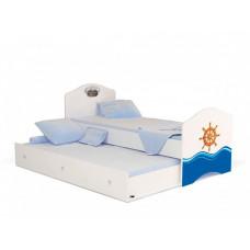 Подростковая кровать ABC-King Ocean без ящика для мальчика 190x90 см
