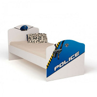 Подростковая кровать ABC-King Police без ящика 190x90 см