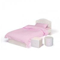 Подростковая кровать ABC-King Princess №1 со стразами Сваровски без ящика и матраса 160x90 см