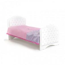 Подростковая кровать ABC-King Princess №3 со стразами Сваровски без ящика 160x90 см