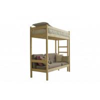 Подростковая кровать Green Mebel чердак с диваном из массива 70x190 см