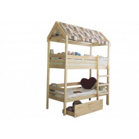 Подростковая кровать Green Mebel двухъярусная домик Baby-house 70х160 см