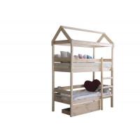 Подростковая кровать Green Mebel двухъярусная домик Baby-house 70х190 см