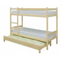 Подростковая кровать Green Mebel двухъярусная с выдвижным спальным местом 3 в 1 80х200 см