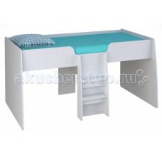 Подростковая кровать Polini чердак детская kids Simple 4100 с выдвижными элементами
