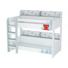 Подростковая кровать Polini kids двухъярусная Marvel 5005 Человек паук