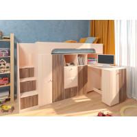 Подростковая кровать РВ-Мебель чердак Астра 11 (дуб молочный)