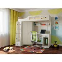 Подростковая кровать РВ-Мебель чердак Астра 7 (дуб молочный)