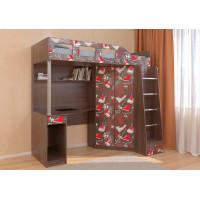 Подростковая кровать РВ-Мебель чердак Астра 7 Кеды (дуб шамони)