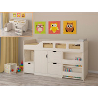 Подростковая кровать РВ-Мебель чердак Астра 8 (дуб молочный)